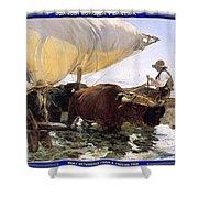 Boat Returning From A Fishing Trip Joaquin Sorolla Y Bastida Shower Curtain