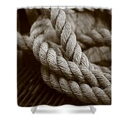 Boat Rope Sepia Tone Shower Curtain
