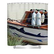 Boat Shark Decoration Donegal Shower Curtain