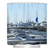 Boat Show On The Bay Shower Curtain