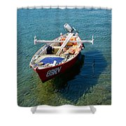 Boat Small Rovinj Croatia Shower Curtain