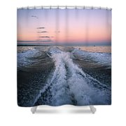 Boat Waves Shower Curtain