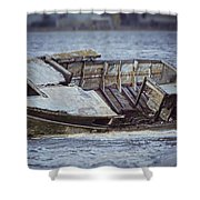 Boat Wreck Shower Curtain