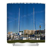 Boater's Paradise Shower Curtain by Michael Tesar