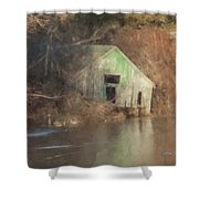 Boathouse On Solstice Shower Curtain