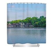 Boathouse Row From Mlk Drive - Philadelphia Shower Curtain