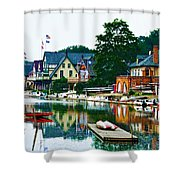Boathouse Row In Philly Shower Curtain