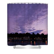 Boathouse Row In Twilight Shower Curtain