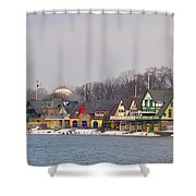 Boathouse Row On A Winter Morning Shower Curtain