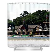 Boathouse Row Philadelphia Shower Curtain