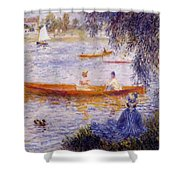 Boating At Argenteuil 1873 Shower Curtain