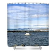Boating At Bandon Shower Curtain