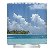 Boating In A Tahitian Lagoon Shower Curtain