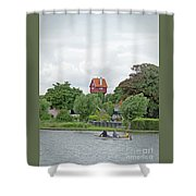 Boating In Thorpeness Shower Curtain