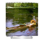 Boating Scene At Maidenhead Sir John Lavery Shower Curtain