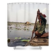 Boatman - Battambang Shower Curtain