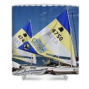 Boats 168 Shower Curtain