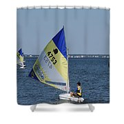 Boats 169 Shower Curtain