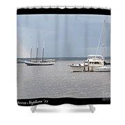 Boats A Drift Shower Curtain
