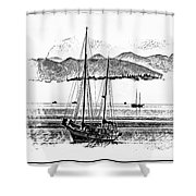 Boats Afloat Shower Curtain