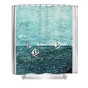 Boats And Birds Shower Curtain