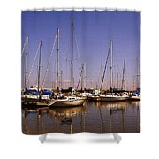 Boats And Reflections Shower Curtain