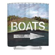 Boats- Art By Linda Woods Shower Curtain