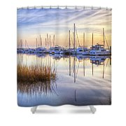 Boats At Calm Shower Curtain
