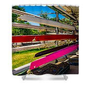 Boats At Dallas Rowing Club Shower Curtain
