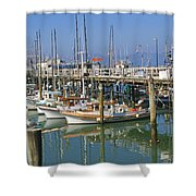 Boats At Fisherman Shower Curtain