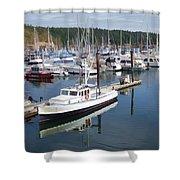 Boats At Friday Harbor Shower Curtain