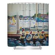 Boats At Marina Del Rey Shower Curtain