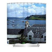 Boats At Portree Shower Curtain
