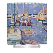 Boats At Royan Shower Curtain