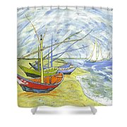 Boats At St. Maries Shower Curtain
