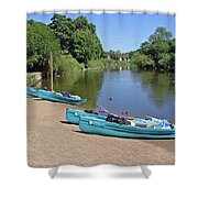 Boats At The Ready Shower Curtain