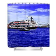 Boats Everywhere During Navy Fleet Review In Sydney Shower Curtain
