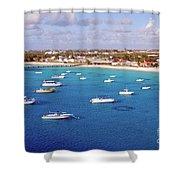 Boats  Grand Turk Shower Curtain