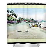 Boats In Beach Shower Curtain