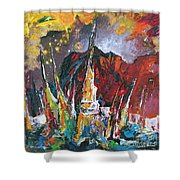 Boats In Calpe 01 Spain Shower Curtain