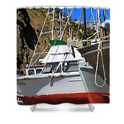 Boats In Drydock Shower Curtain
