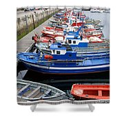 Boats In Norway Shower Curtain