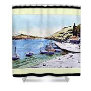 Boats In Spain Shower Curtain