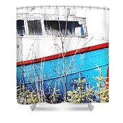 Boats In The Garden Shower Curtain