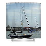Boats In The Inlet Shower Curtain