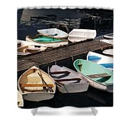 Boats In Waiting Shower Curtain