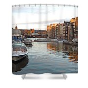 Boats Of Amsterdam Shower Curtain