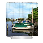 Boats Of Long Beach Island Color Shower Curtain