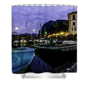 Boats Of The Lake Shower Curtain