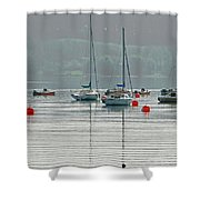 Boats On Carsington Water Shower Curtain